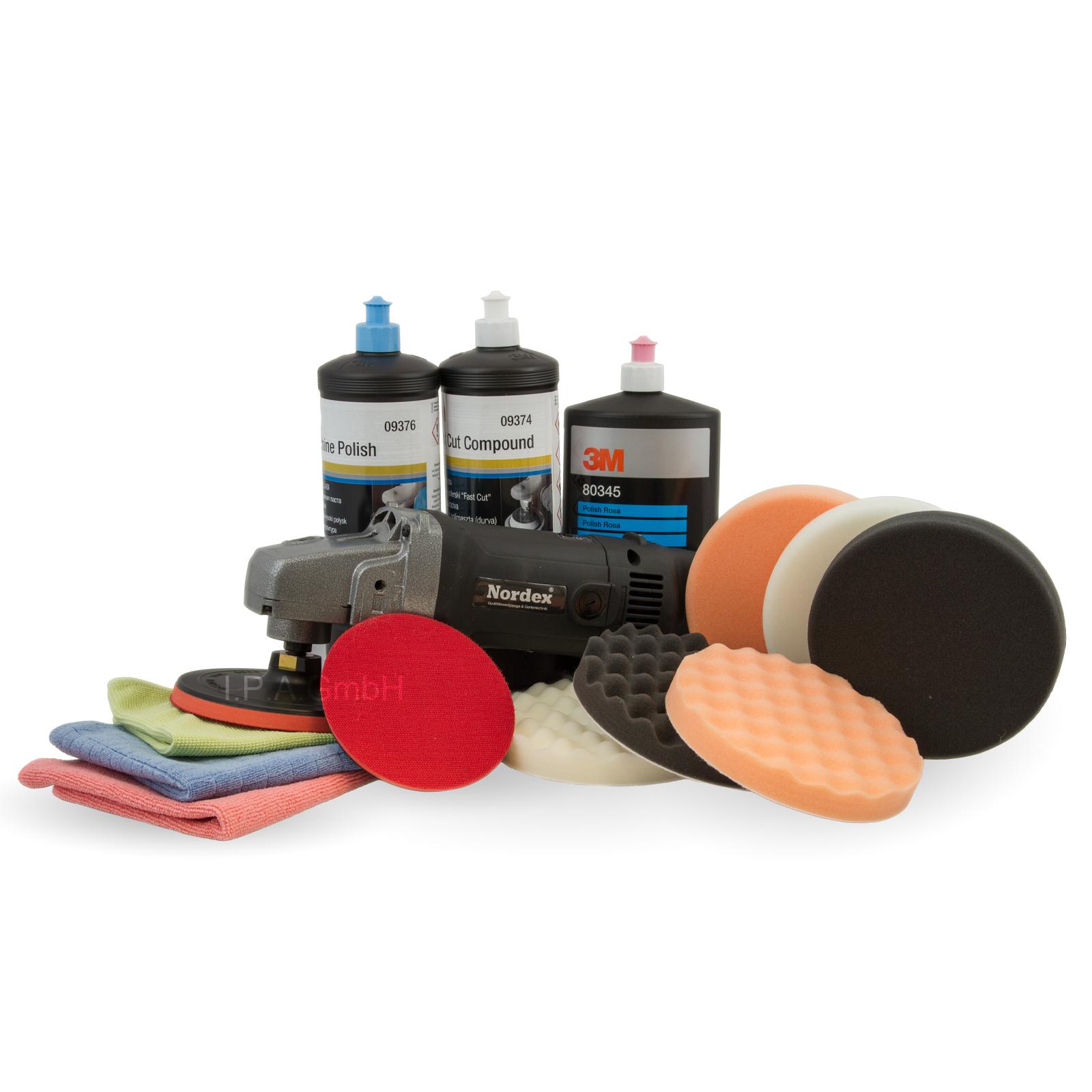 auto poliermaschine nordex profi polisher inklusive 3m polierset mit politur wachs pflegen und. Black Bedroom Furniture Sets. Home Design Ideas